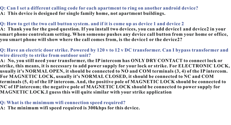 FAQ 3 About IP video door phones with keypad