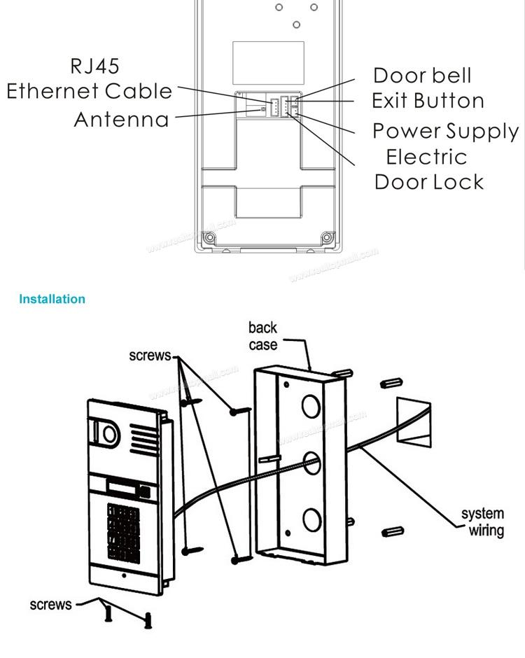 video door phone ip wireless wifi video intercom unlock