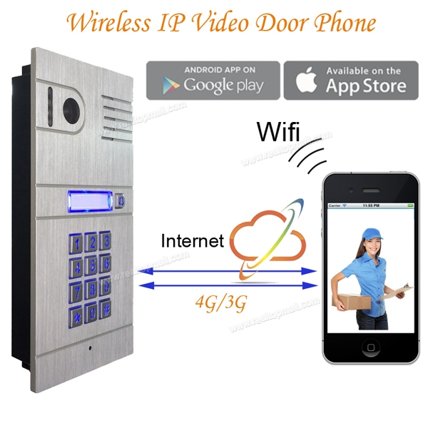 Video Door Phone Ip Wireless Wifi Video Intercom Unlock